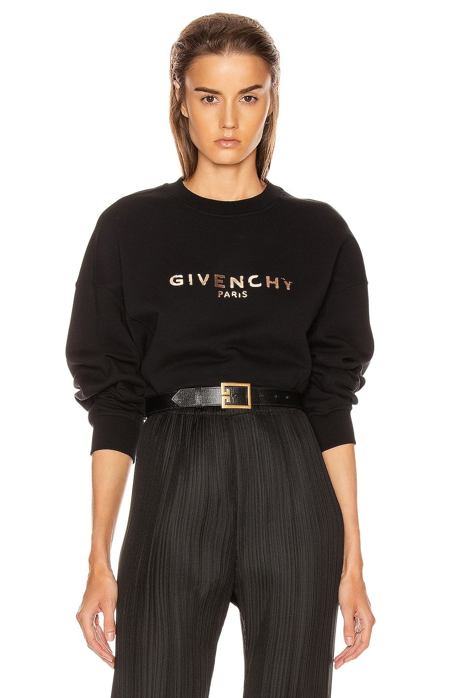 Image 1 of Givenchy Cropped Oversized Sweatshirt in Black