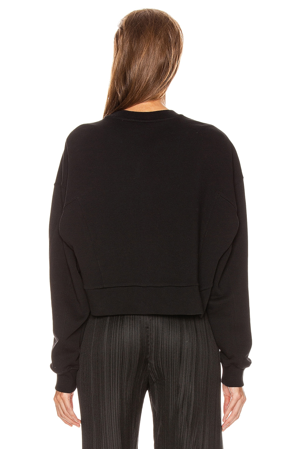 Image 3 of Givenchy Cropped Oversized Sweatshirt in Black