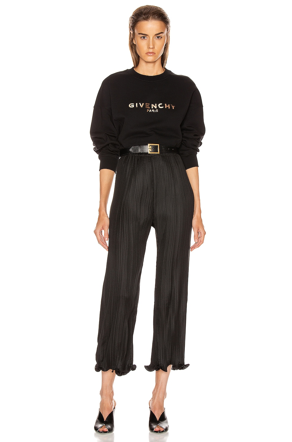 Image 4 of Givenchy Cropped Oversized Sweatshirt in Black
