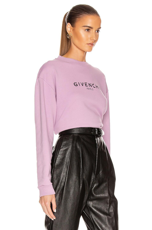 Image 2 of Givenchy Long Sleeve Sweatshirt in Mauve