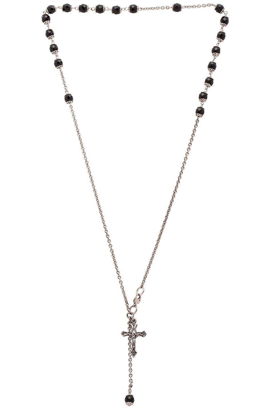 Image 1 of Givenchy Rosario Beads Choker in Black & Silver