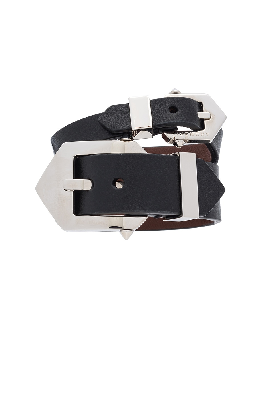 Image 1 of Givenchy Double Belt Bracelet in Black