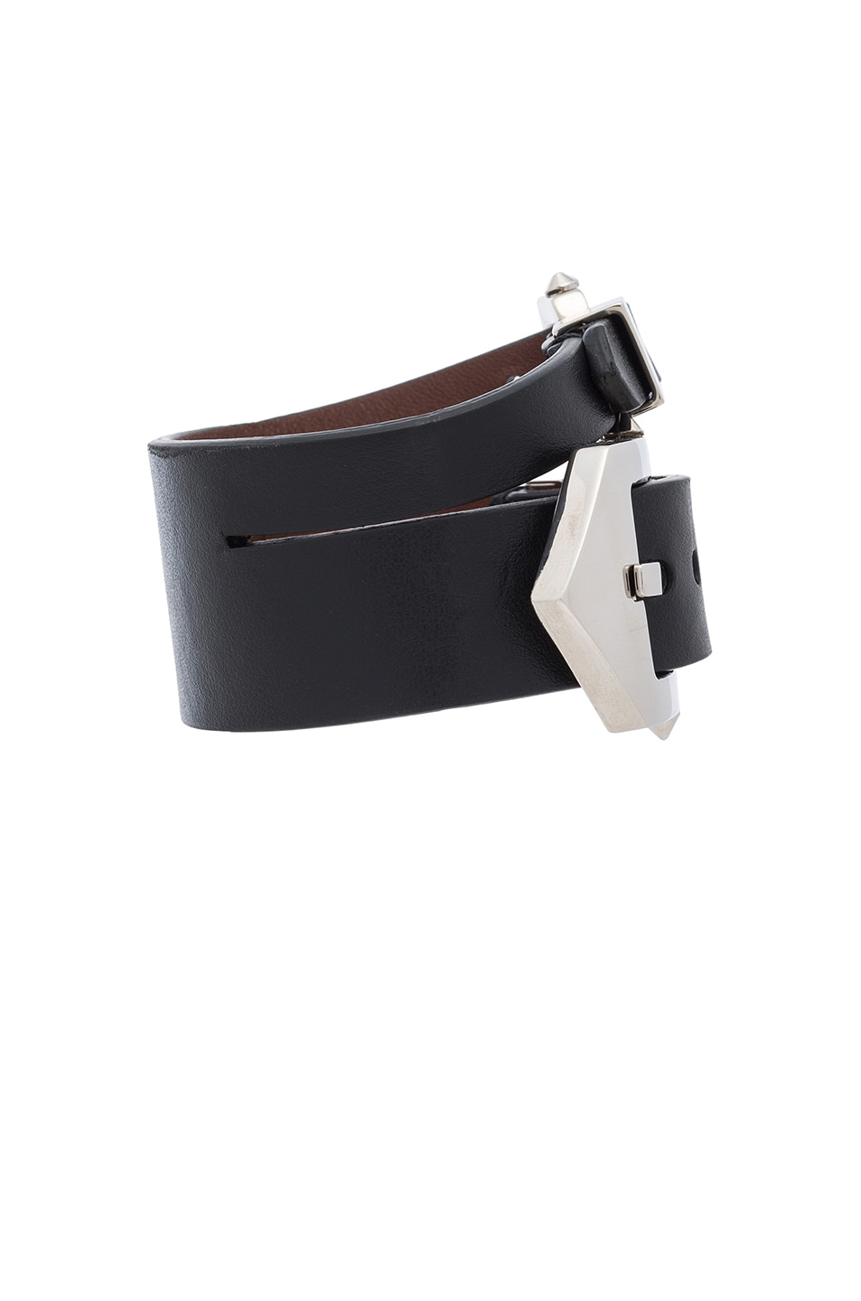 Image 2 of Givenchy Double Belt Bracelet in Black