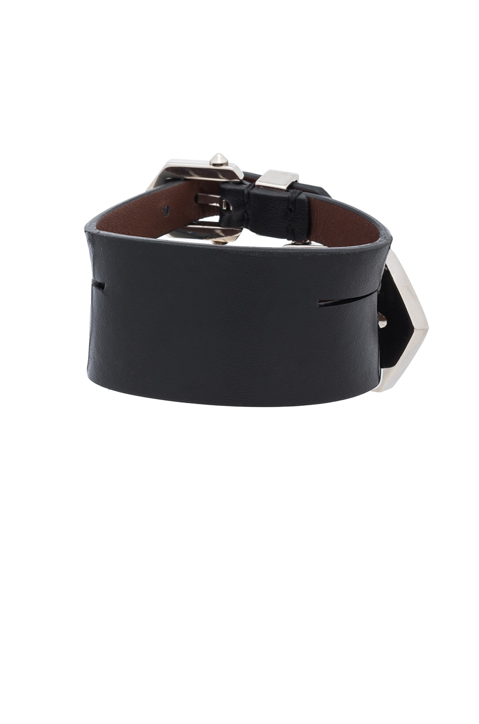 Image 3 of Givenchy Double Belt Bracelet in Black