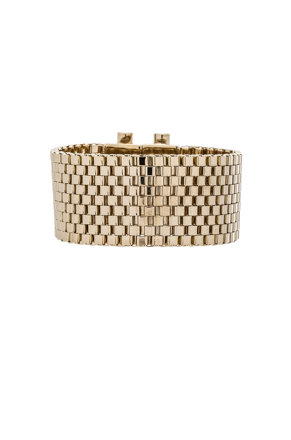 Image 1 of Givenchy Mesh Octagon Bracelet in Pale Gold