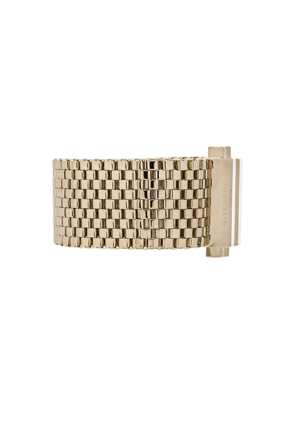 Image 2 of Givenchy Mesh Octagon Bracelet in Pale Gold