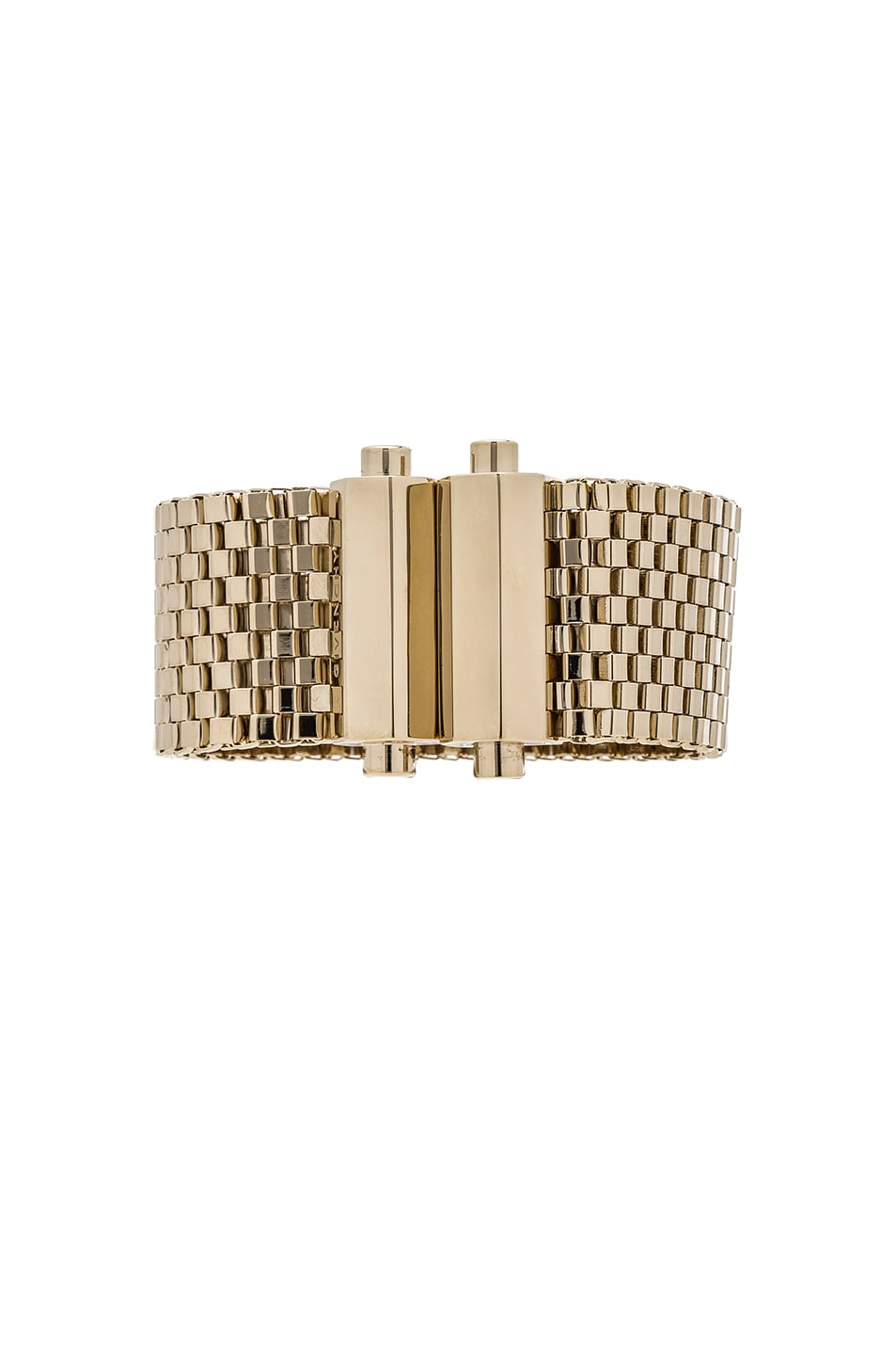 Image 3 of Givenchy Mesh Octagon Bracelet in Pale Gold