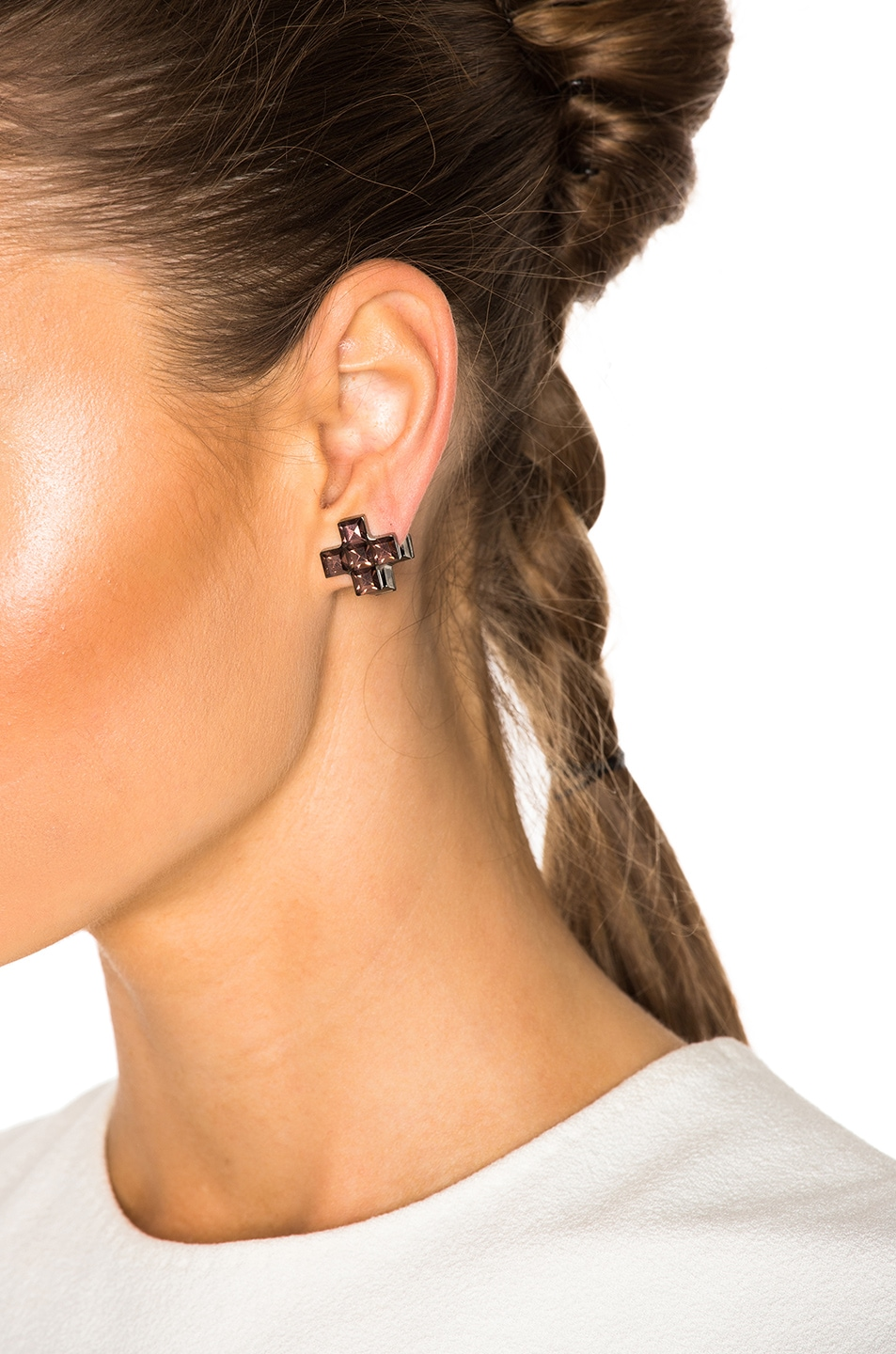 Image 4 Of Givenchy Earrings In Burgundy