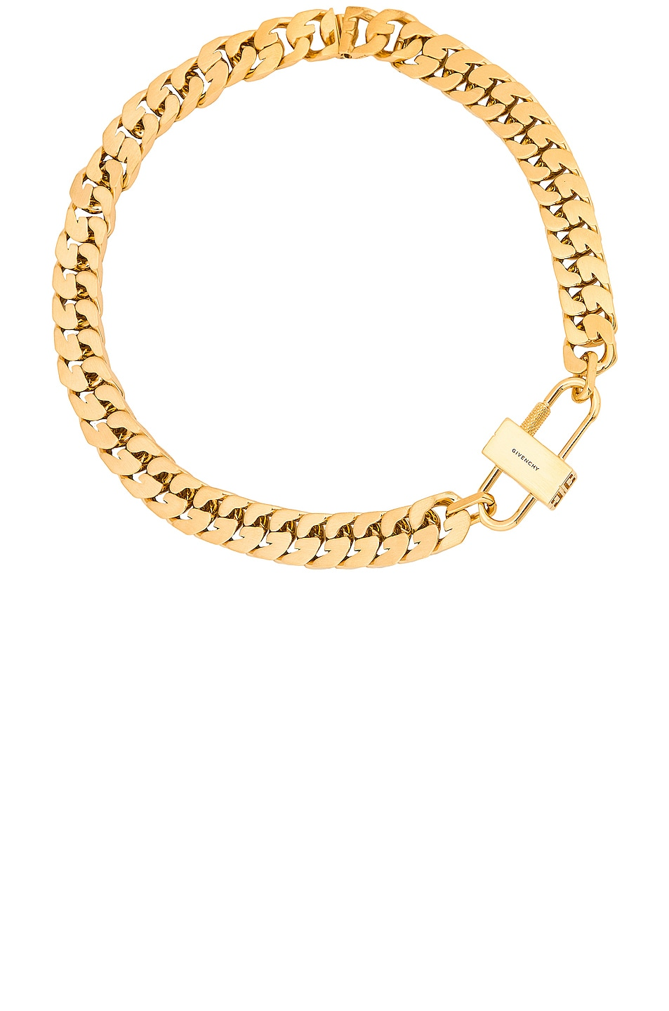 Image 1 of Givenchy Small G Chain Lock Necklace in Golden Yellow