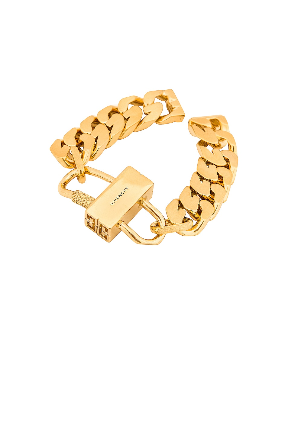 Image 1 of Givenchy G Chain Lock Bracelet in Golden Yellow
