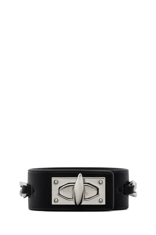 Image 1 of GIVENCHY Shark Lock Chain Bracelet in Black
