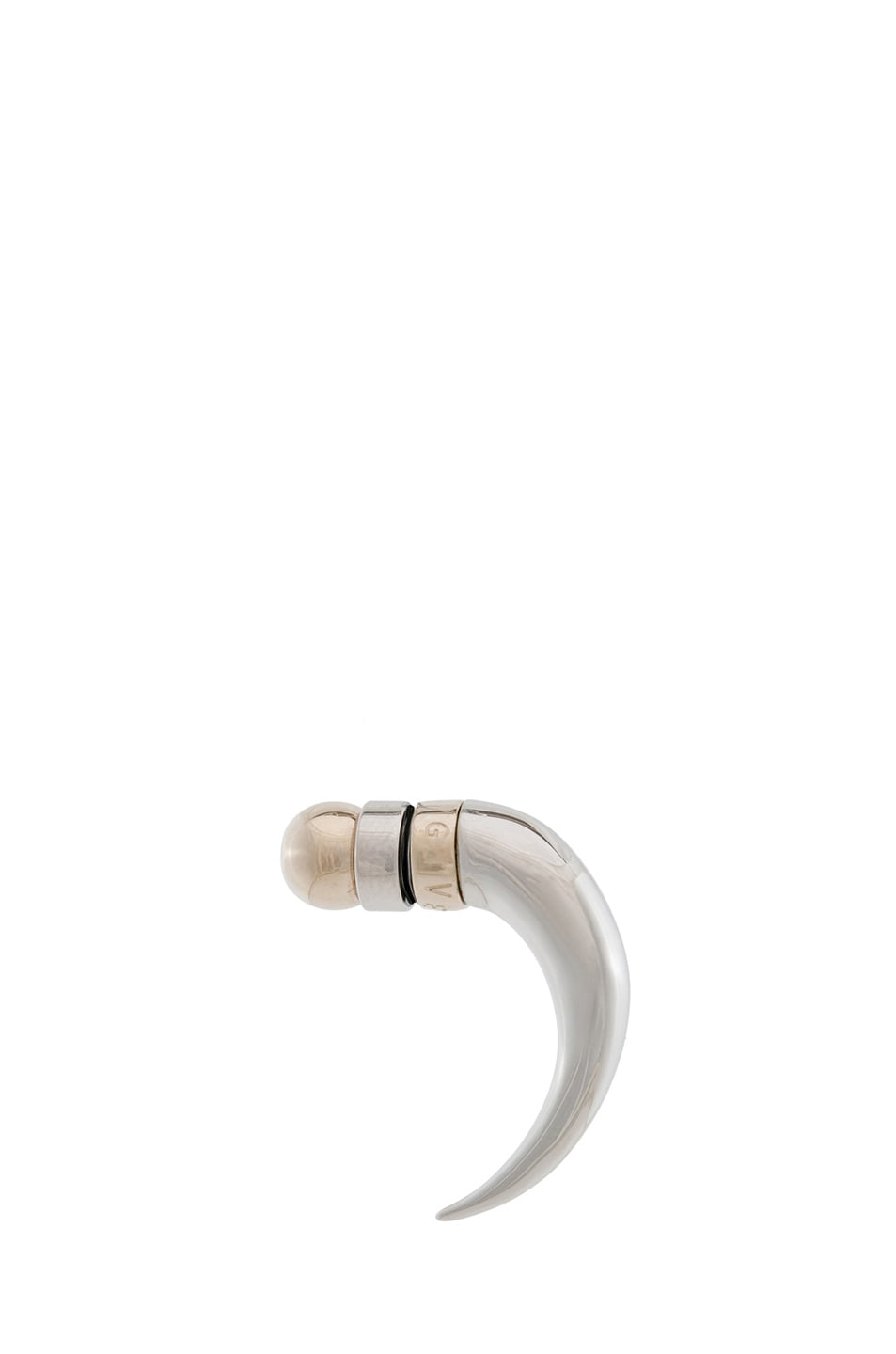Image 1 of GIVENCHY Ball Shark Tooth Brass Earring in Palladium & Gold
