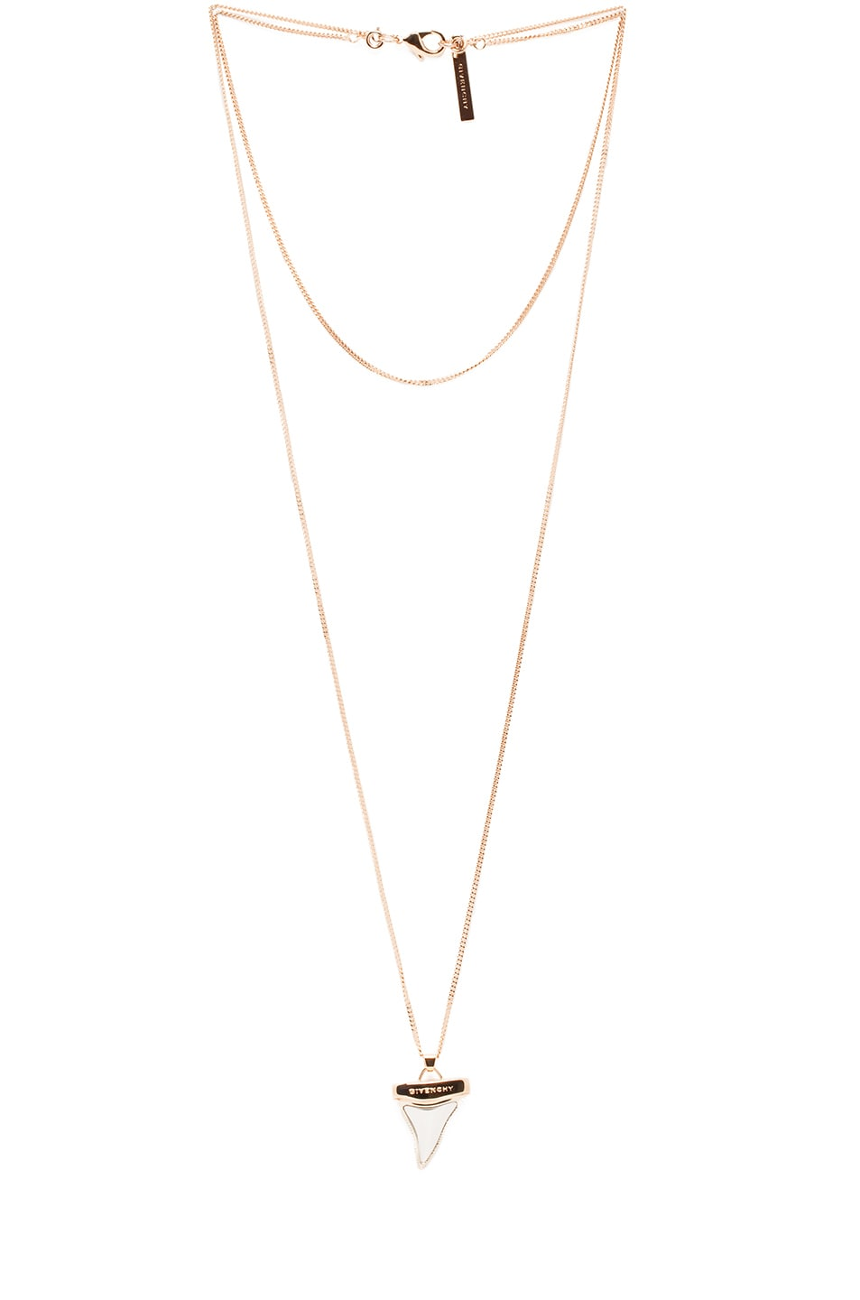 Image 1 of GIVENCHY Mini Shark Tooth Necklace in Rose Gold