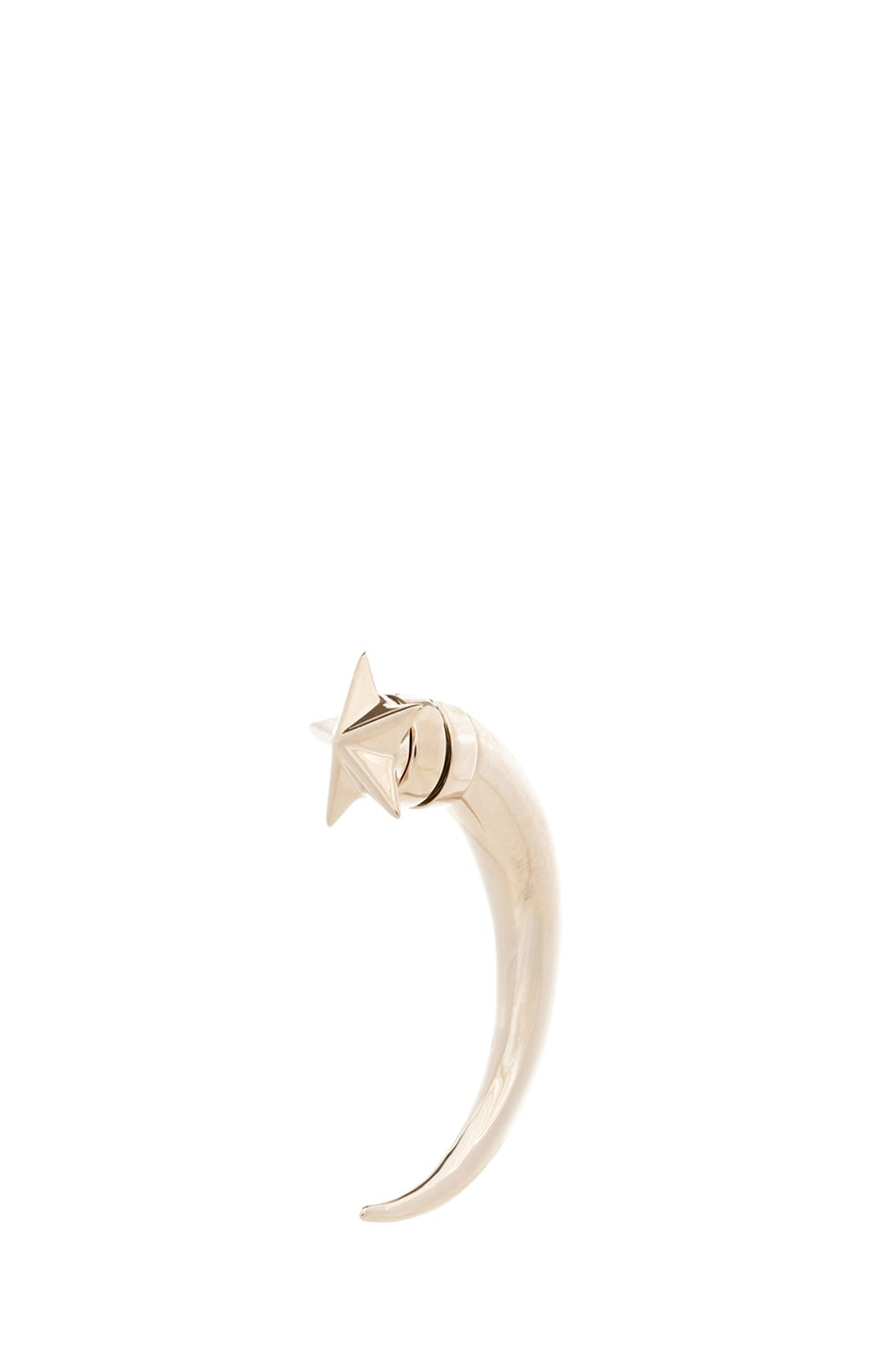 Image 1 of GIVENCHY Star Shark Tooth Brass Earring in Pale Gold