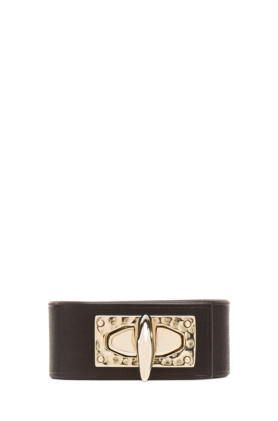 Image 1 of GIVENCHY Shark Tooth Leather Bracelet in Black