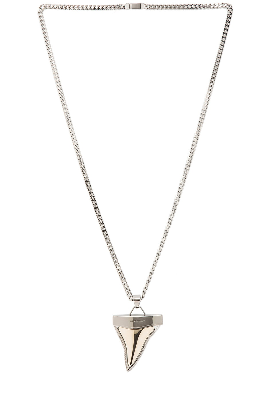 shark accent white tooth inset with pearl great pendant stone