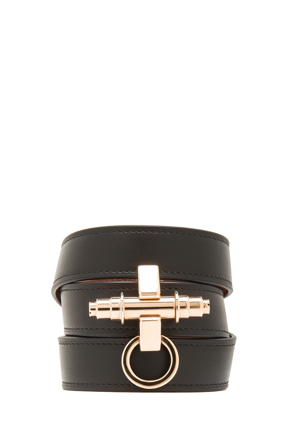 Image 1 of GIVENCHY 3 Row Obsedia Bracelet in Black & Rose Gold