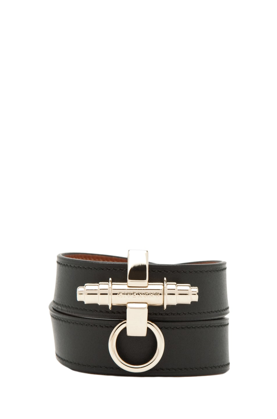 Image 1 of Givenchy 3-Row Bracelet in Black Leather