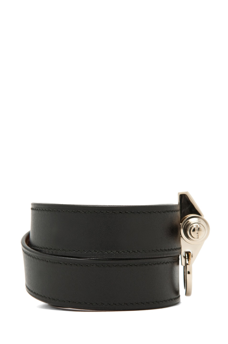Image 2 of Givenchy 3-Row Bracelet in Black Leather
