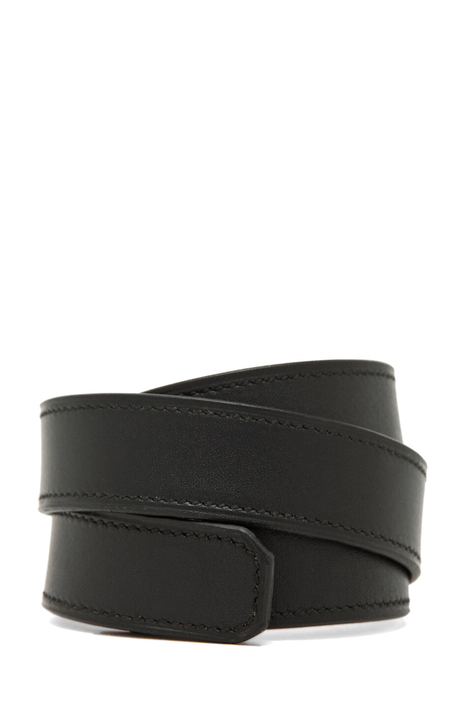 Image 3 of Givenchy 3-Row Bracelet in Black Leather