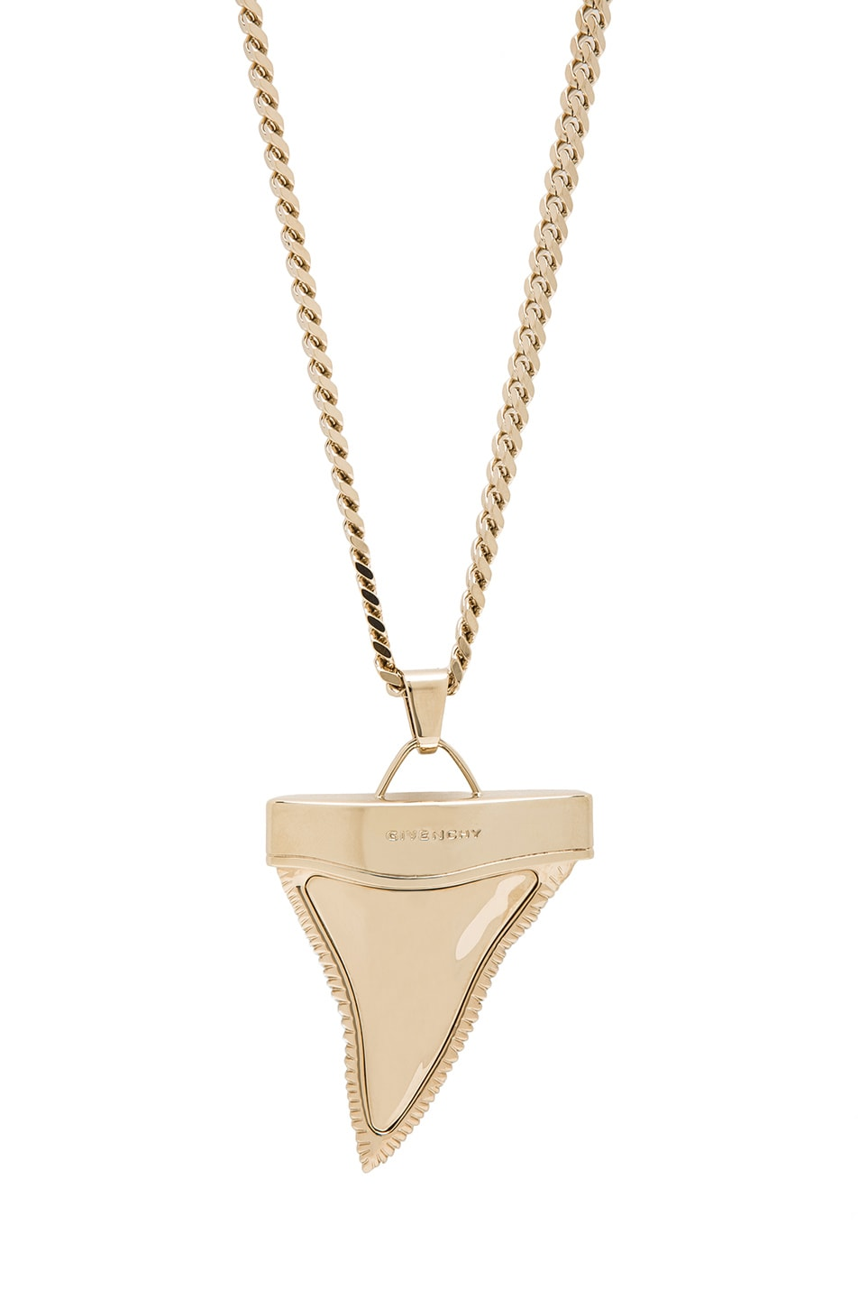Image 1 of GIVENCHY Large Shark Tooth Necklace in Gold