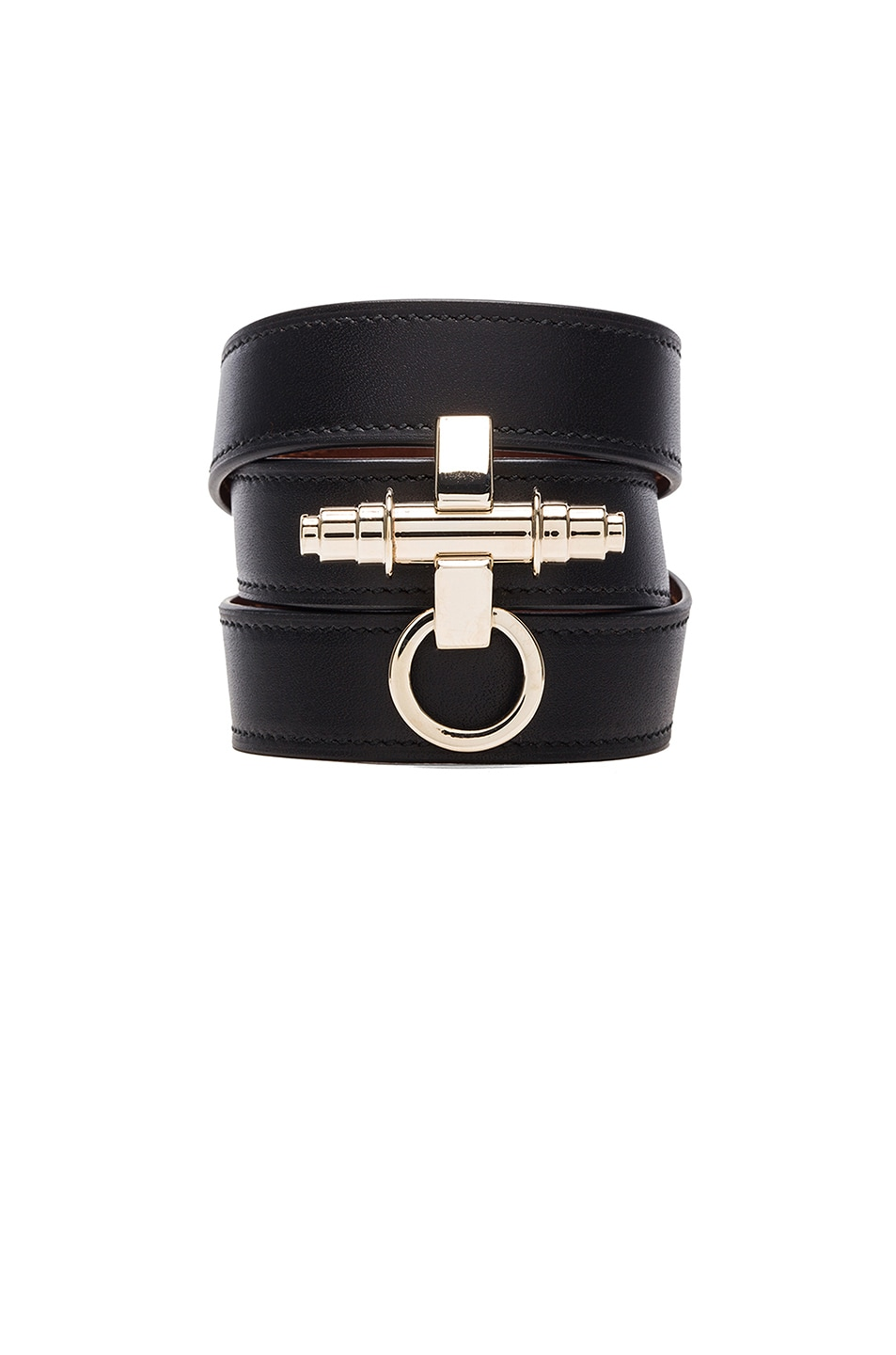 Image 1 of GIVENCHY 3 Row Obsedia Bracelet in Black & Gold