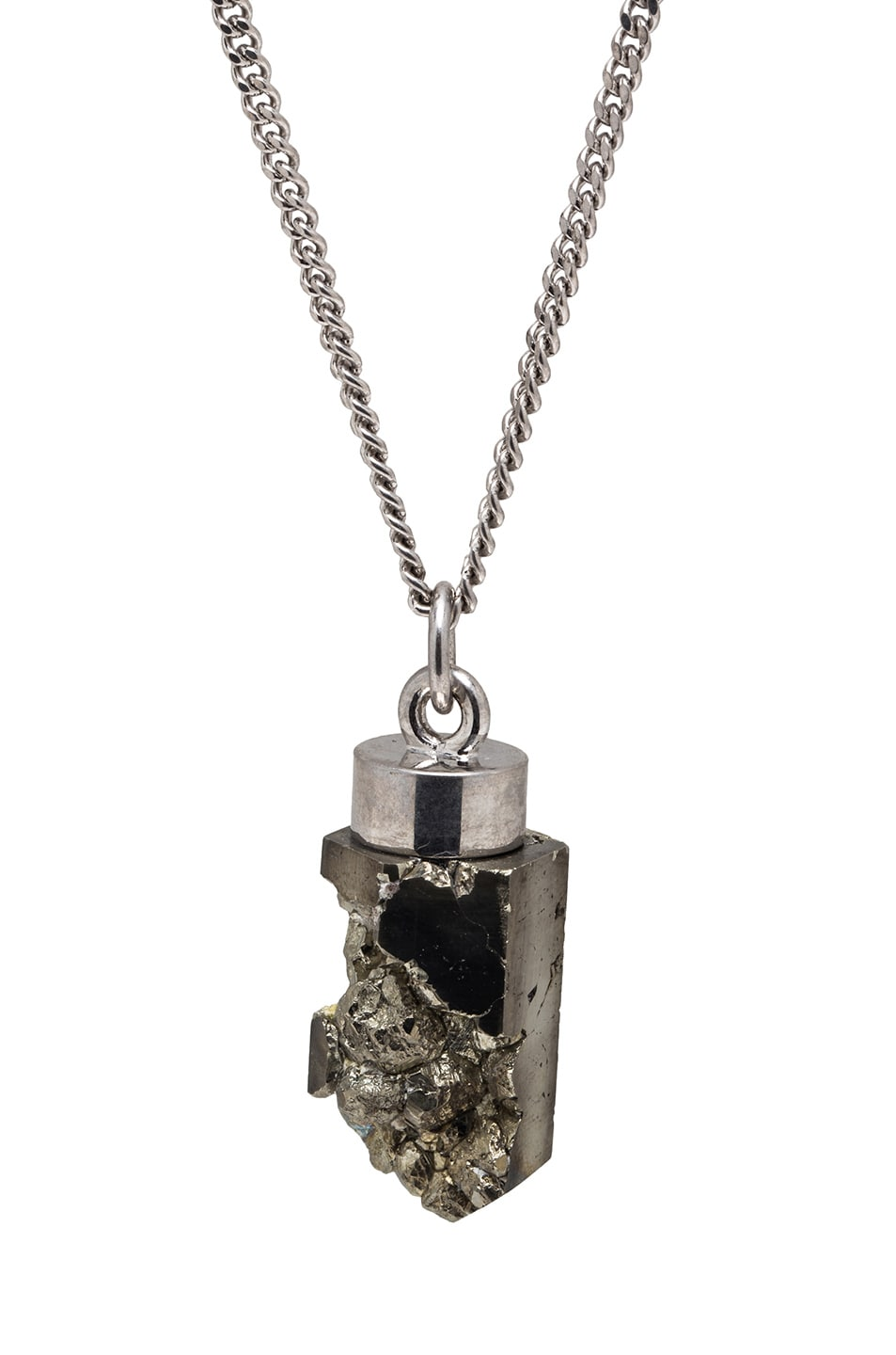 Givenchy pyrite pendant necklace in silver fwrd image 1 of givenchy pyrite pendant necklace in silver aloadofball Images