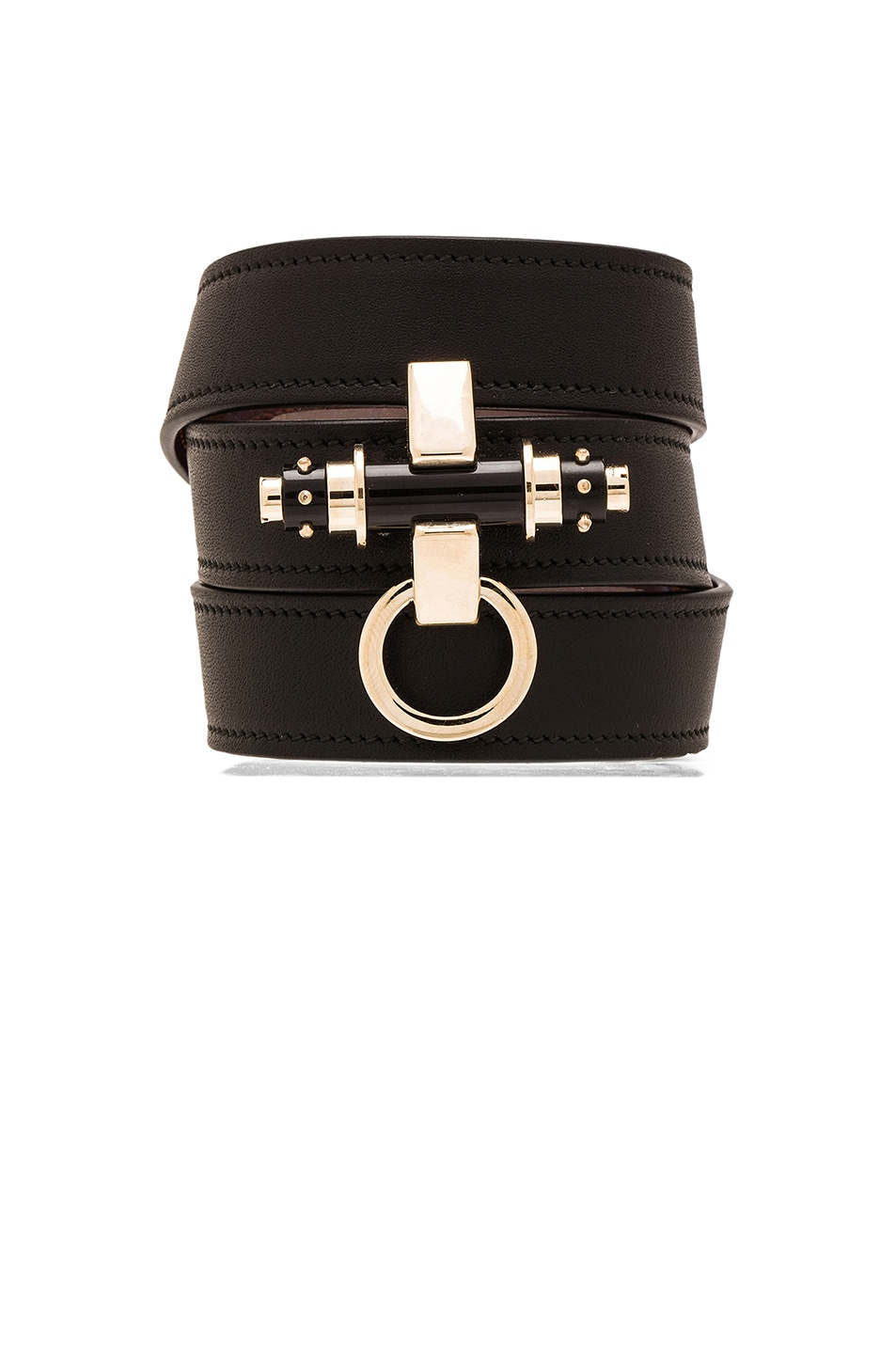 Image 1 of GIVENCHY Studded 3 Row Obsedia Bracelet in Black