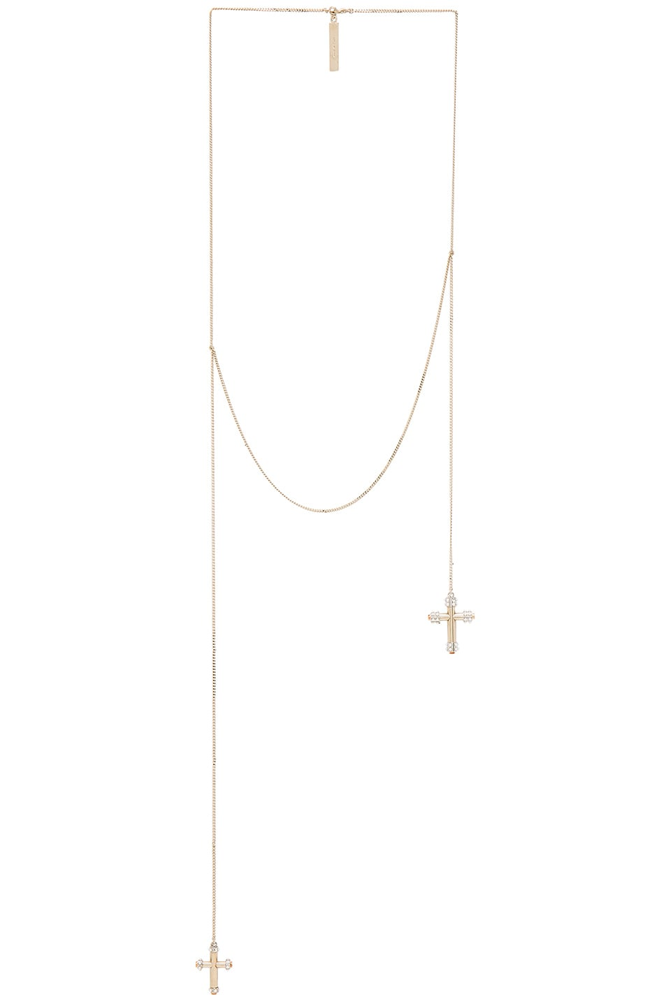 Image 1 of GIVENCHY Crosses Necklace in Metal & Pearls