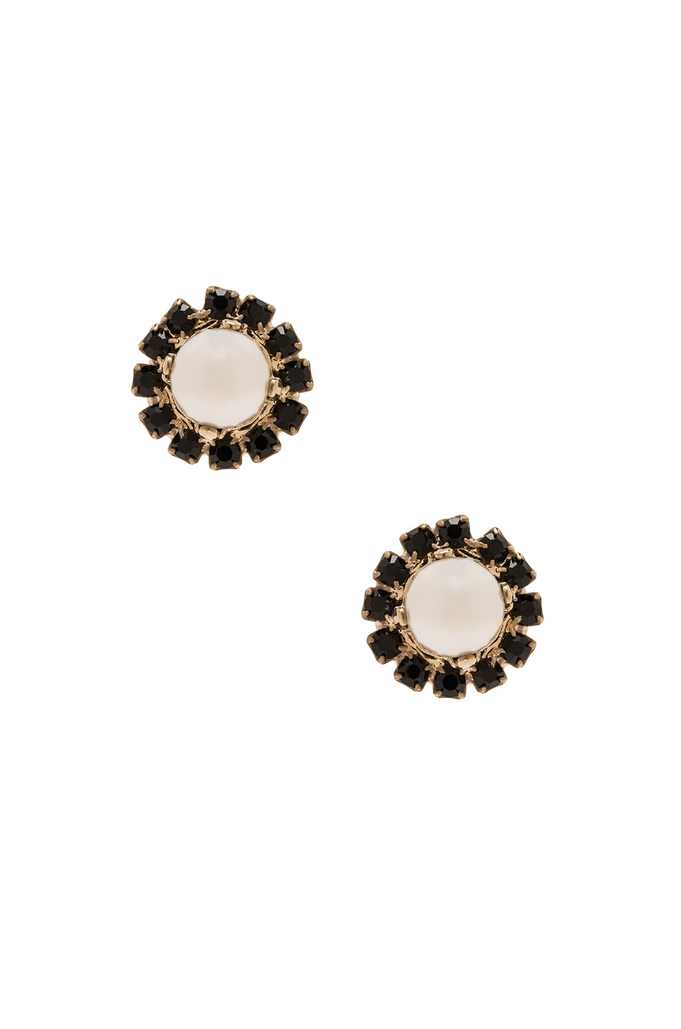 Image 1 of Givenchy Magnetic Pearl Earrings in Black & White