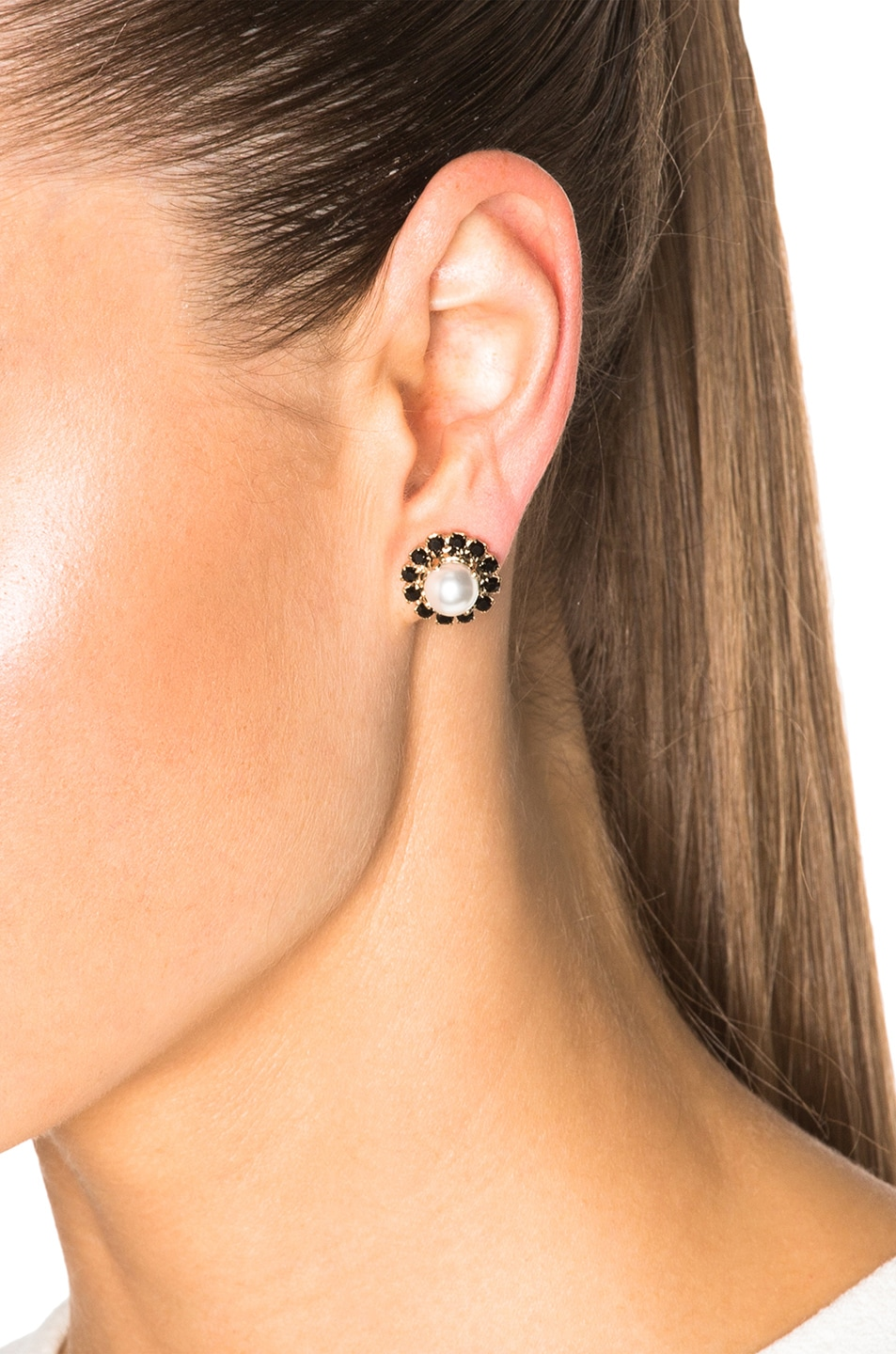 Image 2 Of Givenchy Magnetic Pearl Earrings In Black & White