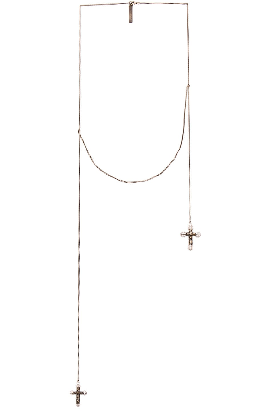 Image 1 of Givenchy Double Cross Necklace in Bronze