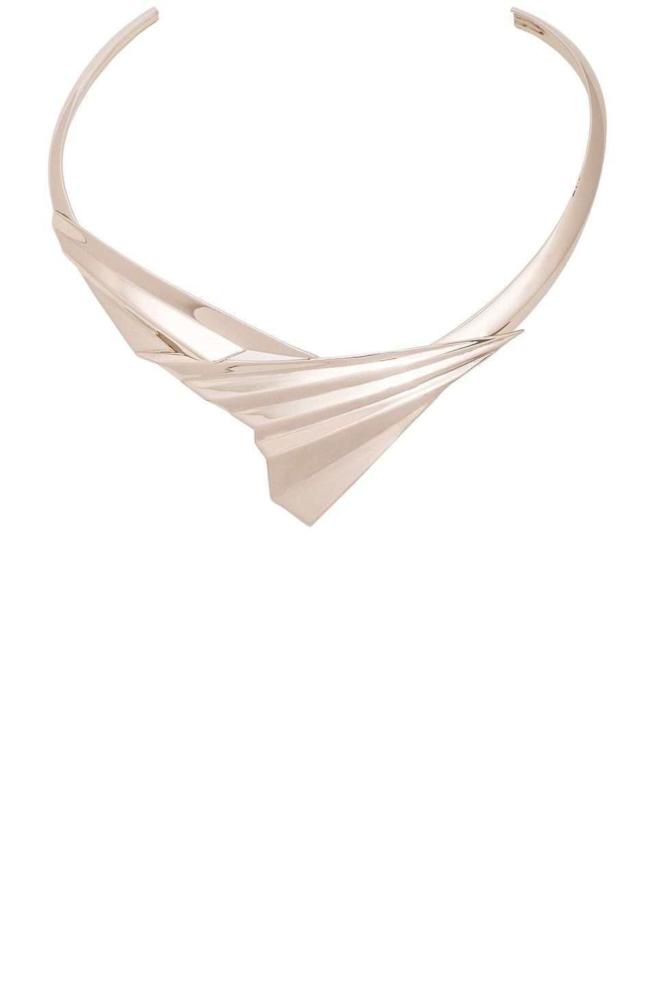 Image 1 of Givenchy Folded Metal Choker in Pale Gold