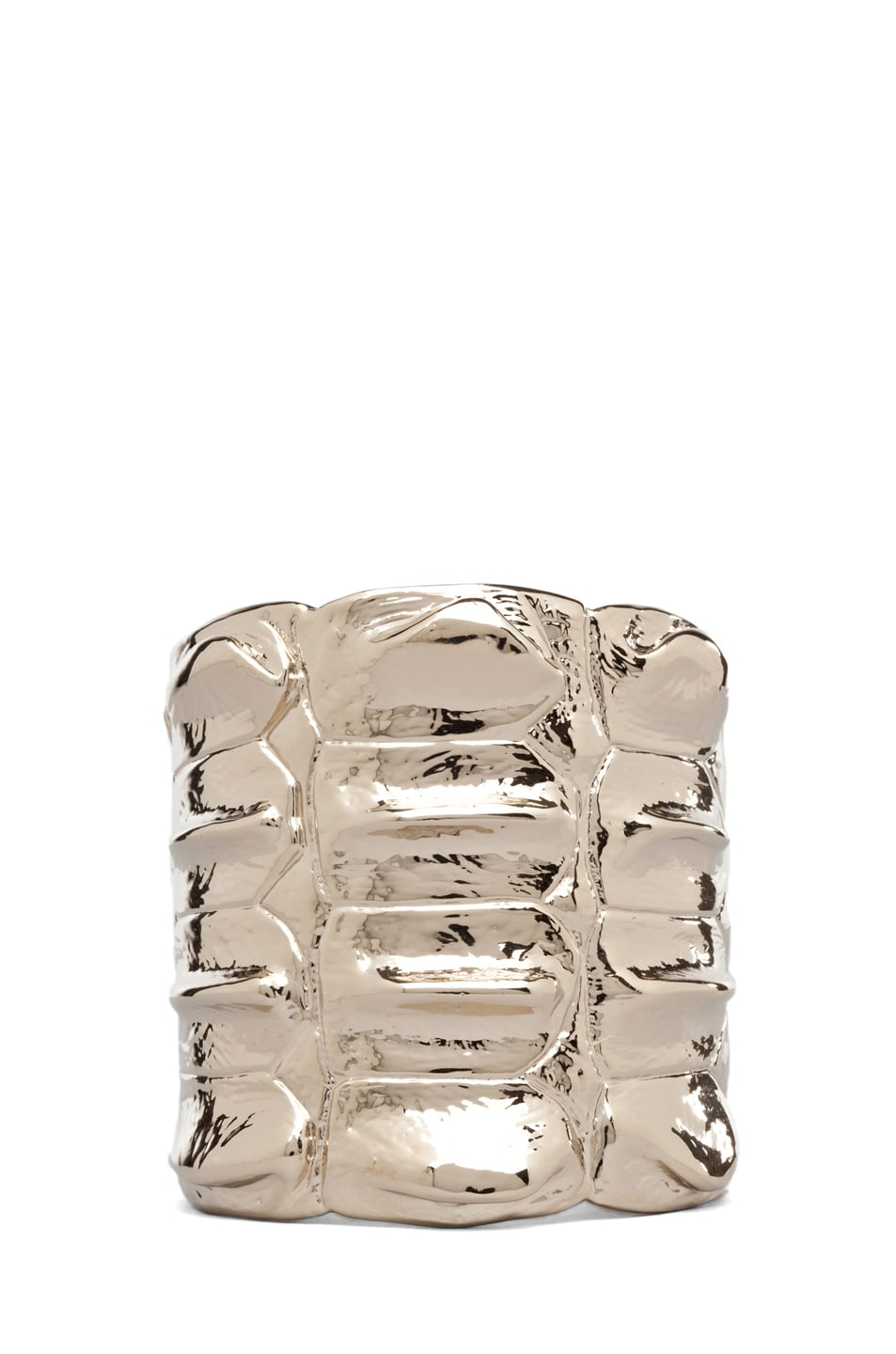Image 1 of GIVENCHY Croc Metal Cuff in Pale Gold