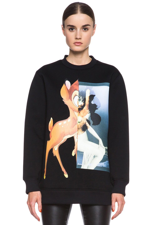 Image 1 of GIVENCHY Bambi Print Viscose Sweatshirt in Black