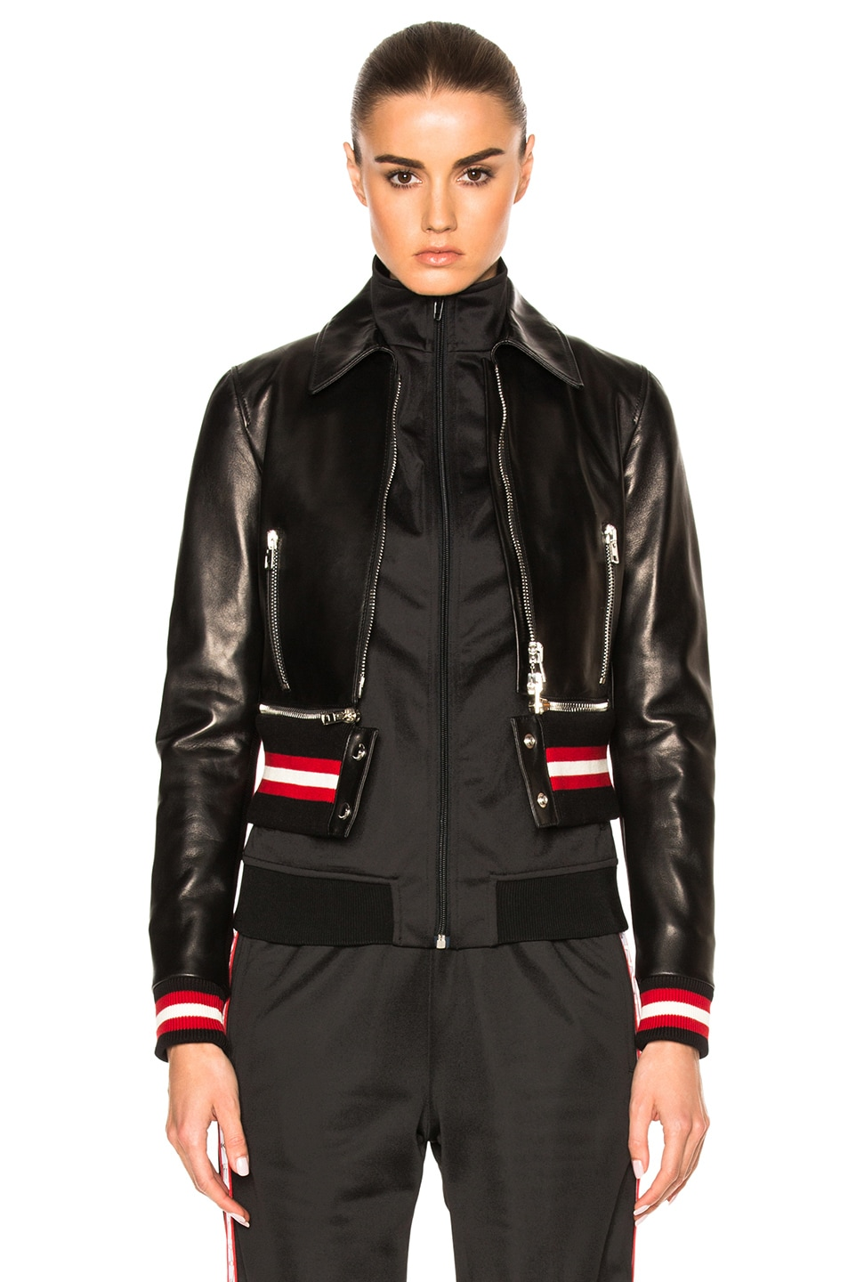 Image 1 of Givenchy Leather Jacket in Black