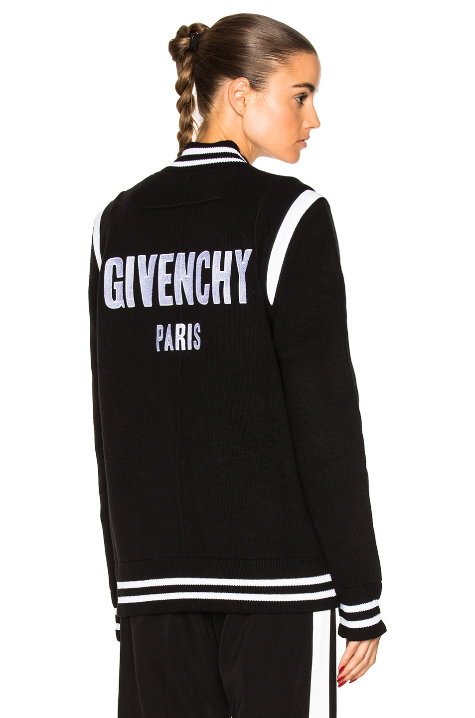 Image 1 of Givenchy Logo Bomber Jacket in Black