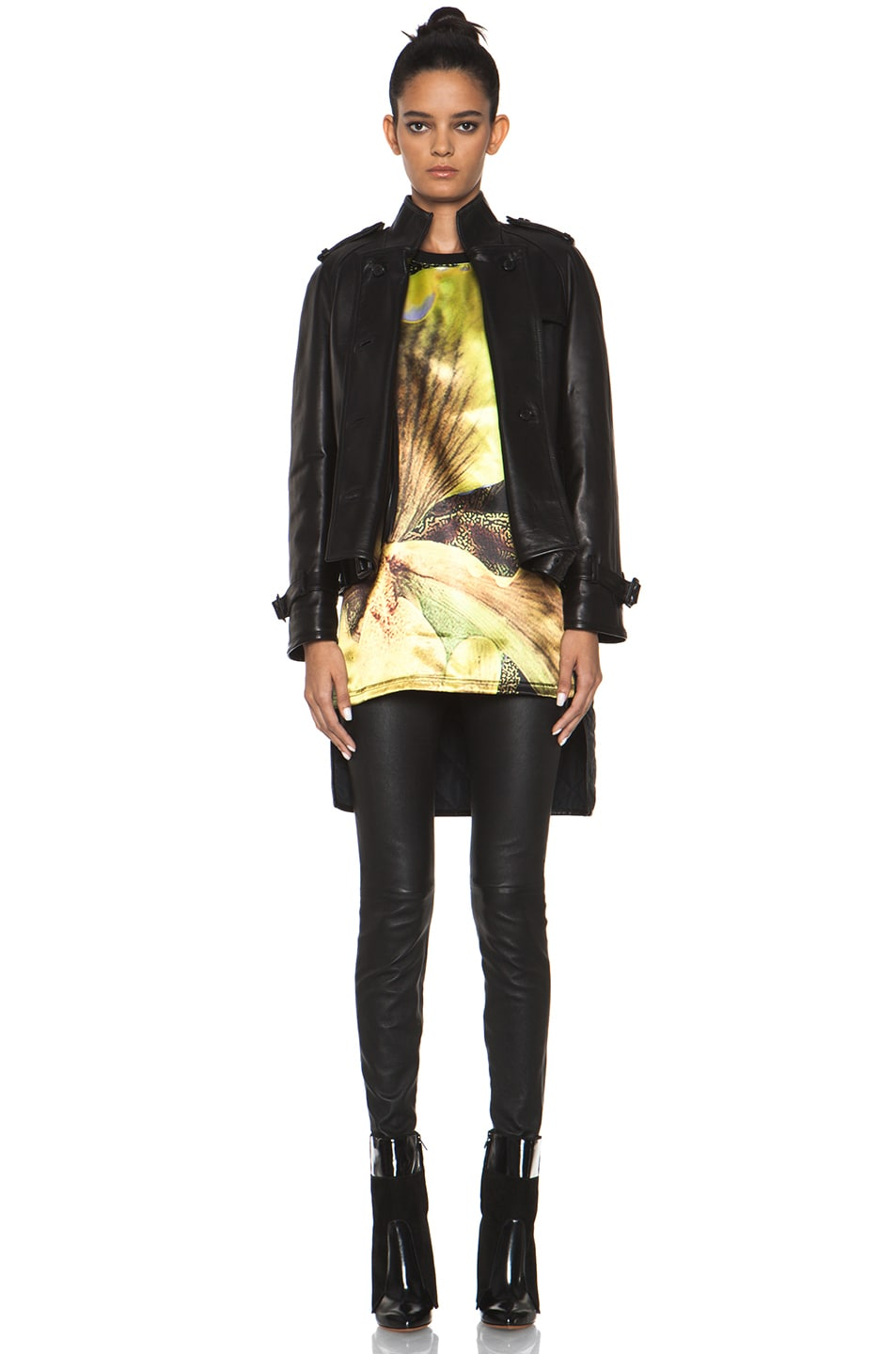 Image 1 of GIVENCHY Leather Jacket with Quilted Lining in Black