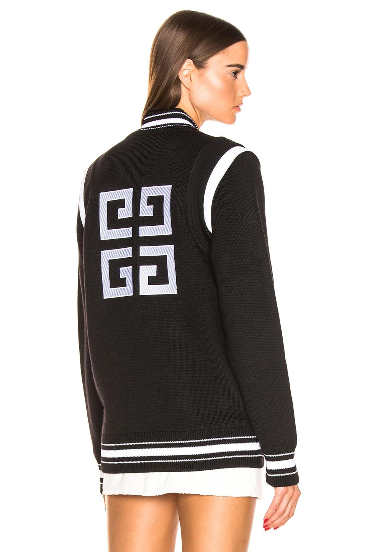 Image 1 of Givenchy Varsity Jacket in Black & White