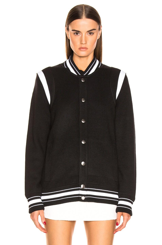 Image 3 of Givenchy Varsity Jacket in Black & White