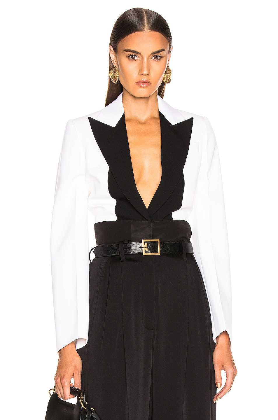 Image 1 of Givenchy One Button Jacket in Black & White