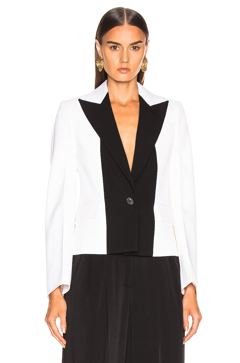 Image 2 of Givenchy One Button Jacket in Black & White