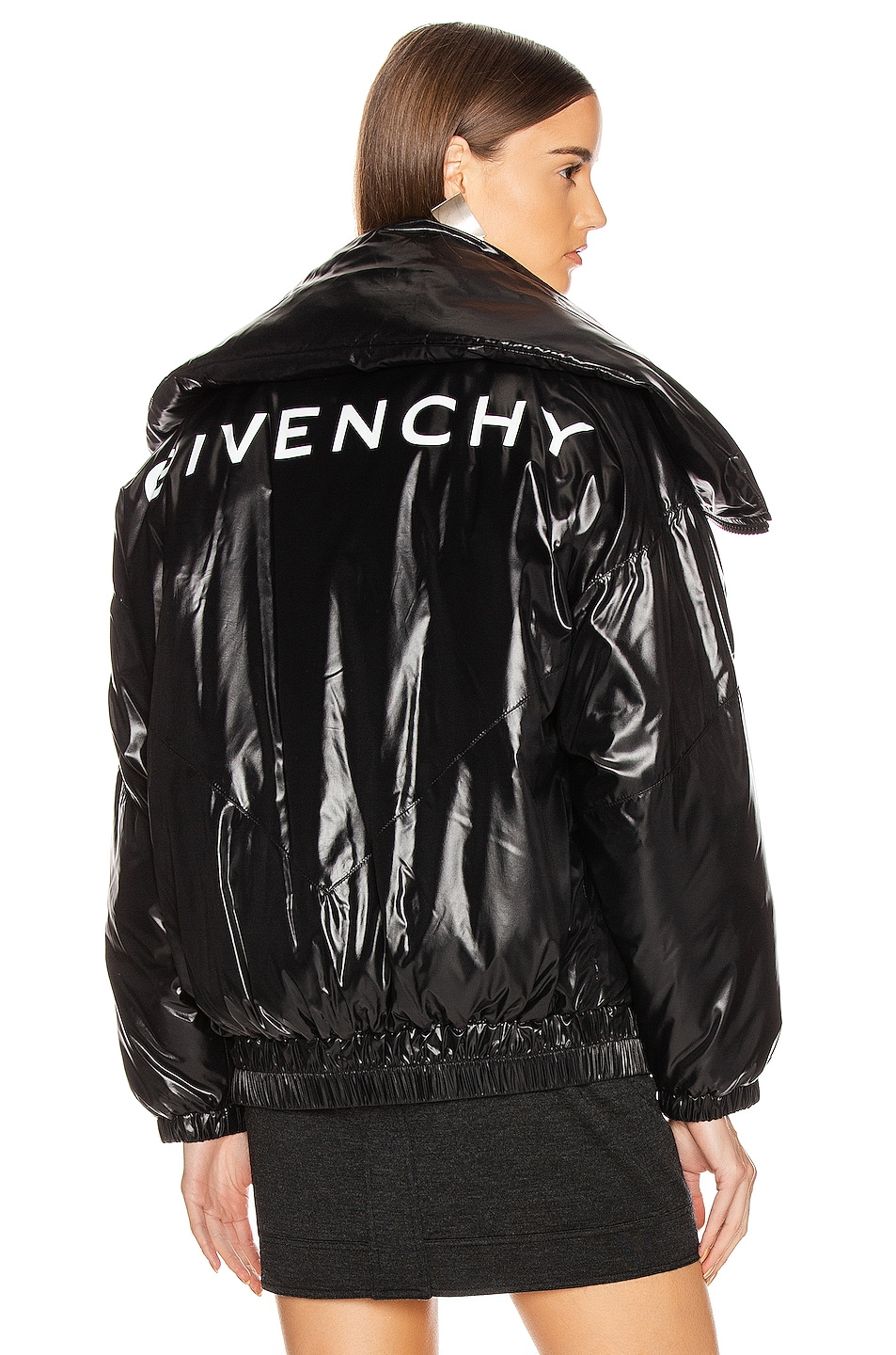 Image 1 of Givenchy Quilted Logo Puffer Jacket in Black