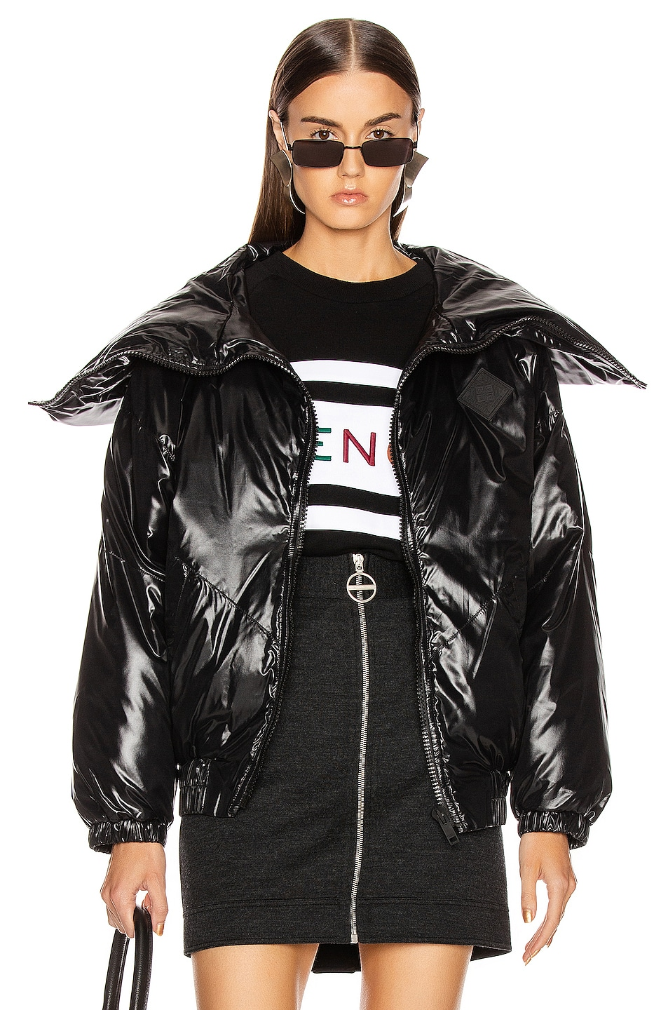 Image 2 of Givenchy Quilted Logo Puffer Jacket in Black