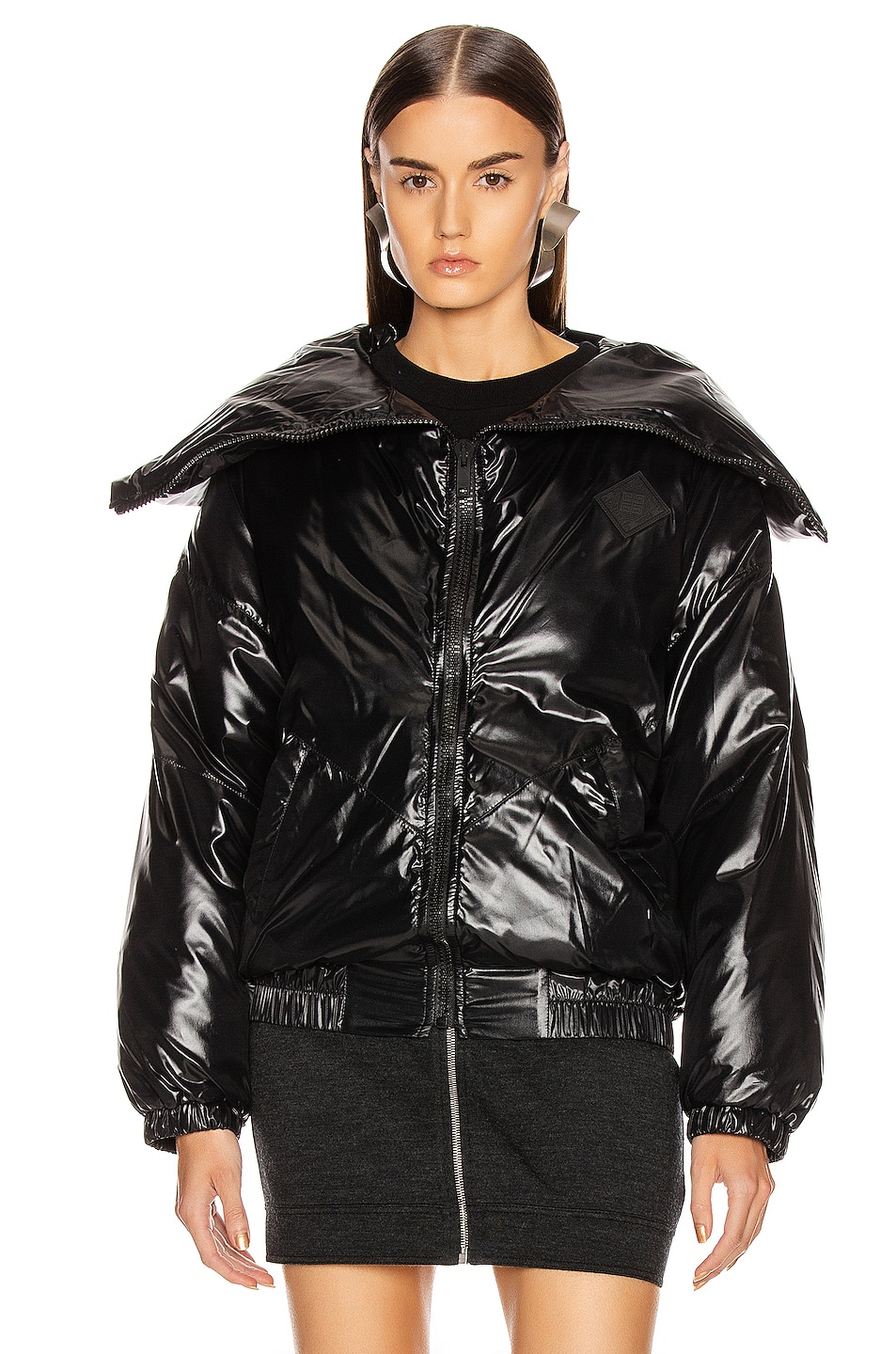 Image 3 of Givenchy Quilted Logo Puffer Jacket in Black