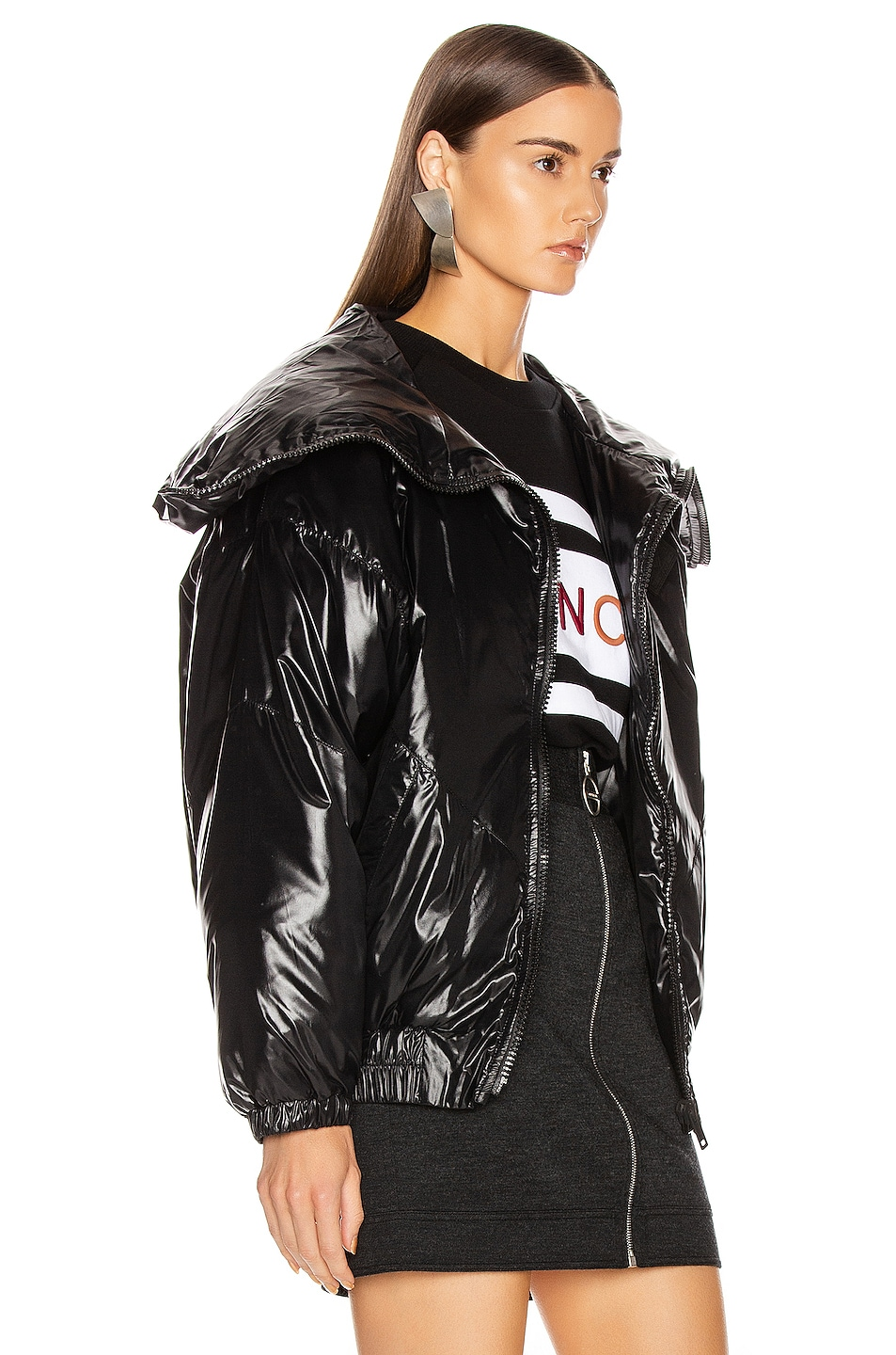 Image 4 of Givenchy Quilted Logo Puffer Jacket in Black