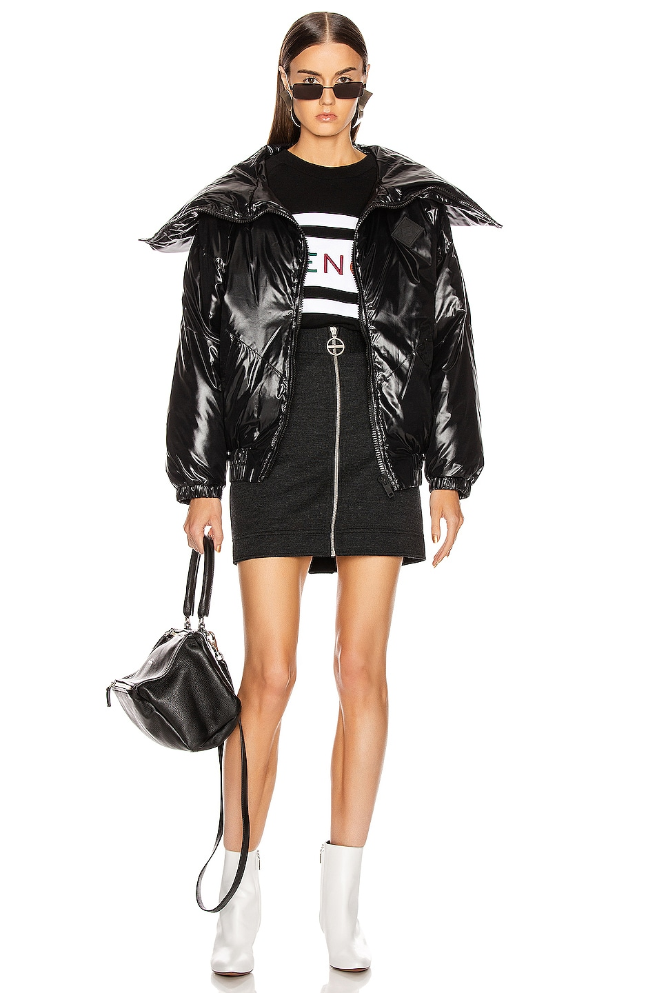 Image 6 of Givenchy Quilted Logo Puffer Jacket in Black