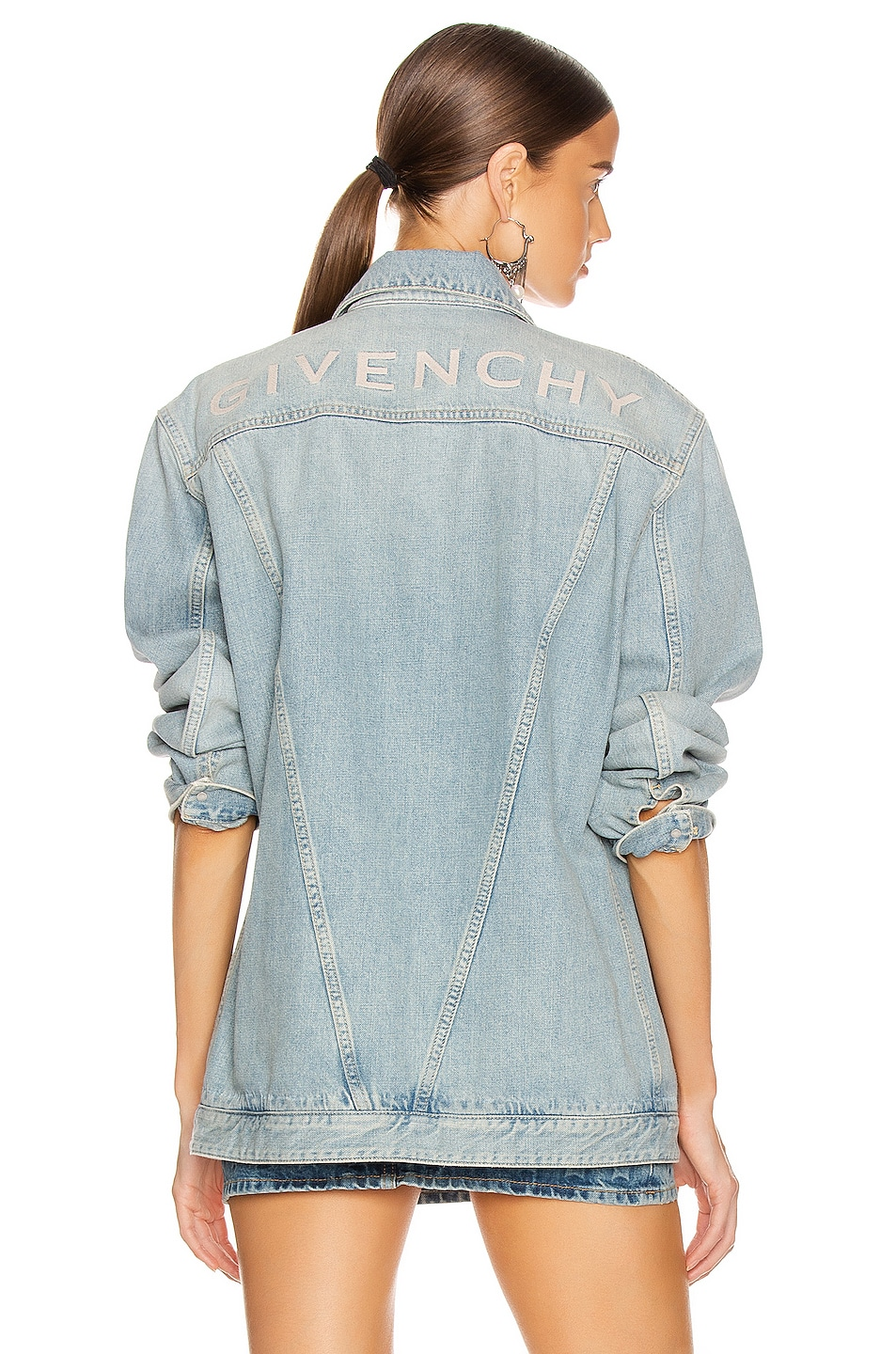 Image 1 of Givenchy Oversized Trucker Jacket in Light Blue