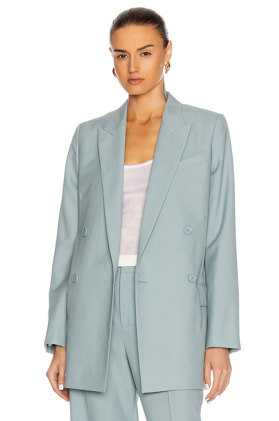 Image 1 of Givenchy Masculine Double Breasted Jacket in Blue