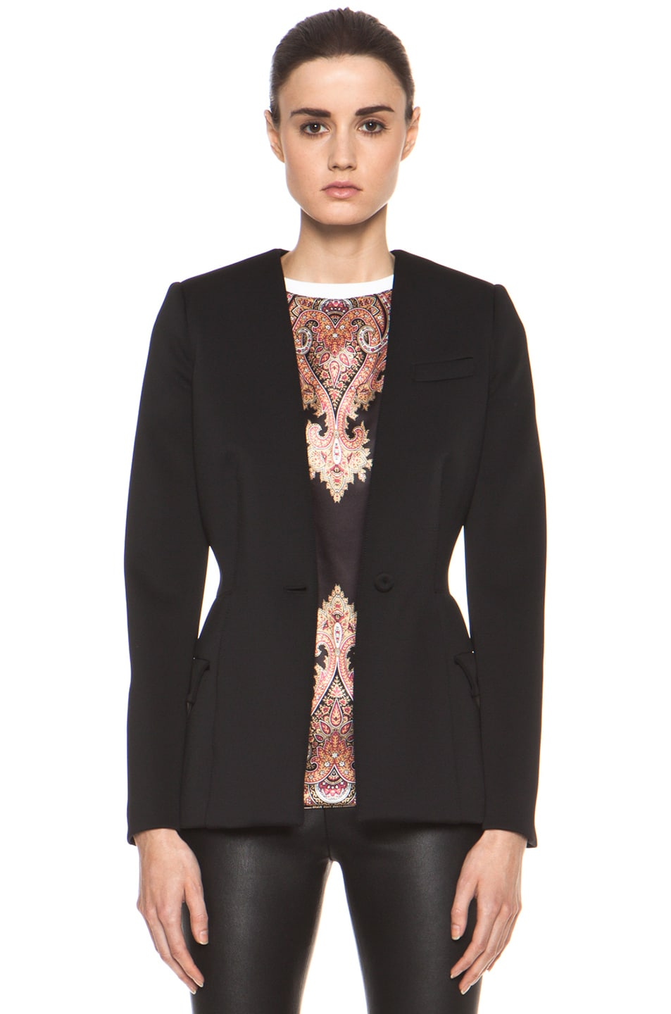 Image 1 of GIVENCHY Jersey Technique Blazer in Black